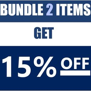 Purchase two or more items for additional 15% off